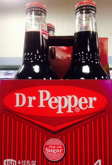 Dr Pepper bottles with metal caps